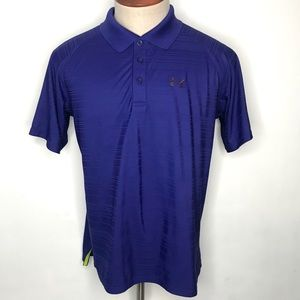 Under Armour Men's Coolswitch Polo Shirt Purple M